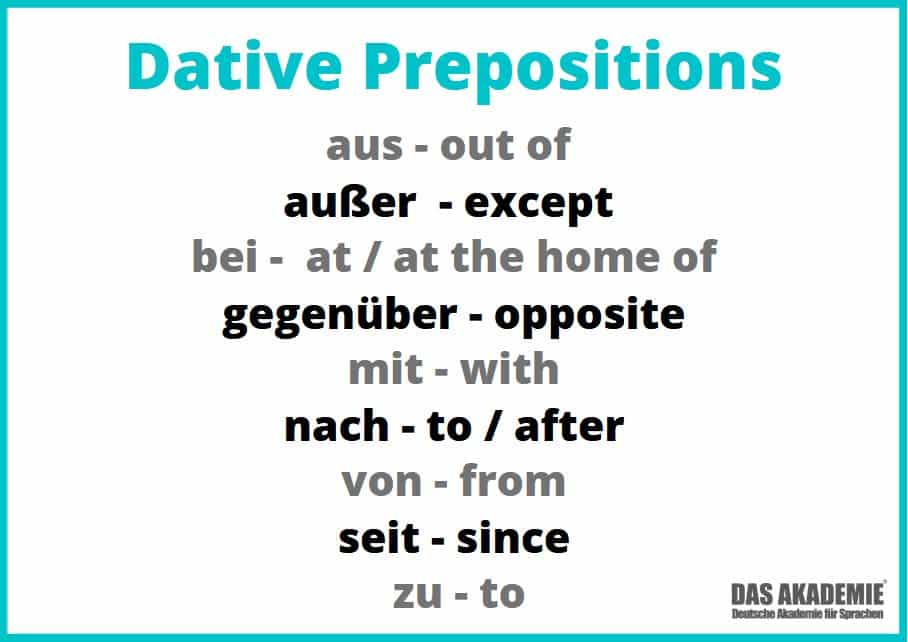 dative prepositions