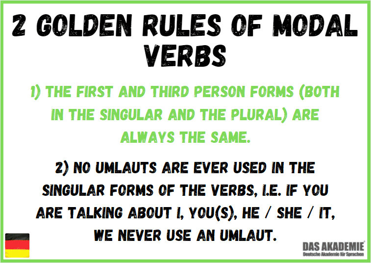 Golden Rules of Modal Verbs