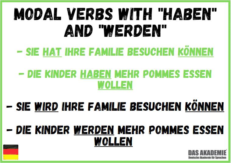 Modal Verbs with haben and werden