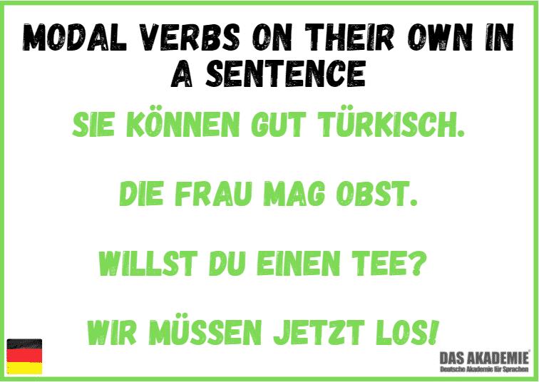 modal verbs on their own in a sentence